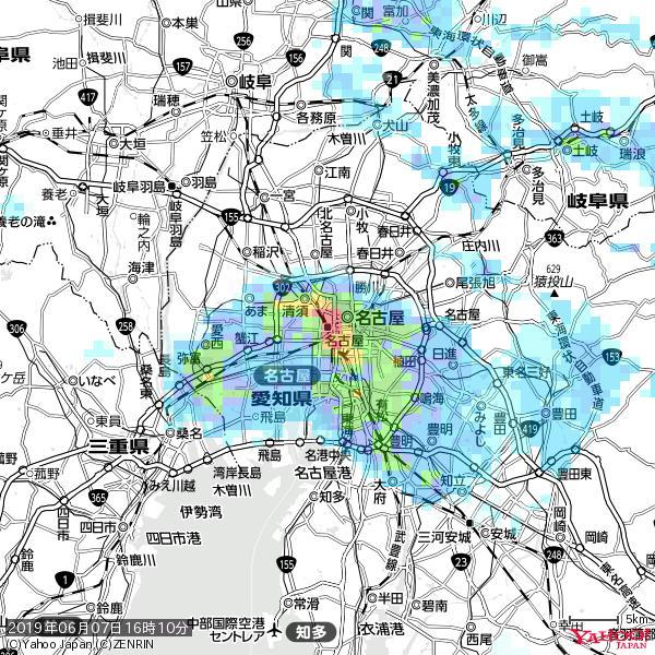 名古屋の天気(雨): 非常に激しい雨 降水強度: 62.50(mm/h)  2019年06月07日 16時10分の雨雲 https://t.co/cYrRU9sV0H #豪雨bot #雨雲bot #bot https://t.co/E8Z5nxPUFb
