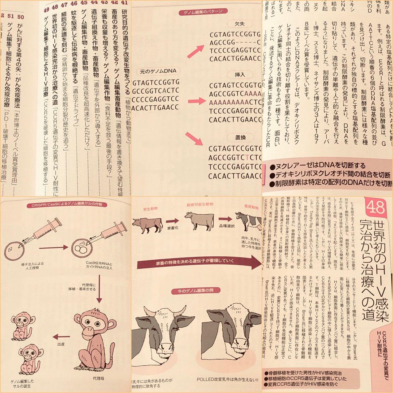 ざっと読了。遺伝子、DNA、ゲノム編集方法。応用事例とか。  「あらゆる生物種の遺伝情報を自由自在に操る「ゲノム編集」」 「医療、農業、畜産など多岐にわたる分野に革命」  トコトンやさしいゲノム編集の本 (今日からモノ知りシリーズ) | 宮岡 佑一郎 https://t.co/3qVhoqUqaA https://t.co/R9MHs2wVrE
