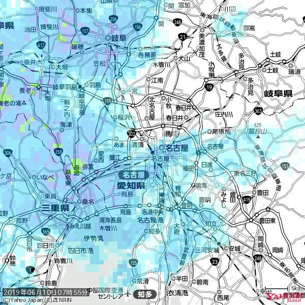 名古屋の天気(雨) 降水強度: 5.25(mm/h)  2019年06月10日 07時55分の雨雲 https://t.co/cYrRU9sV0H #雨雲bot #bot https://t.co/vaFjYZRhUb