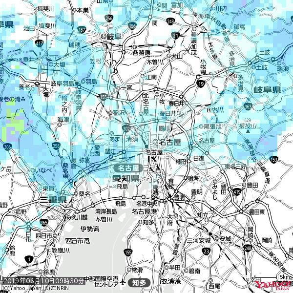 名古屋の天気(雨) 降水強度: 1.85(mm/h)  2019年06月10日 09時30分の雨雲 https://t.co/cYrRU9sV0H #雨雲bot #bot https://t.co/PvH5VOYVbW