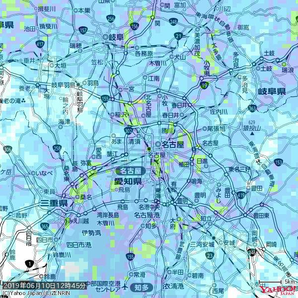 名古屋の天気(雨): やや強い雨 降水強度: 17.50(mm/h)  2019年06月10日 12時45分の雨雲 https://t.co/cYrRU9sV0H #雨雲bot #bot https://t.co/gEUaMh8zLf