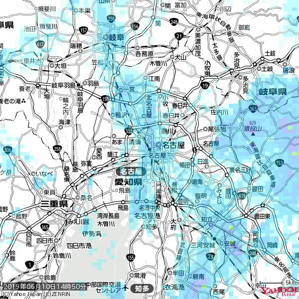 名古屋の天気(雨) 降水強度: 3.88(mm/h)  2019年06月10日 14時50分の雨雲 https://t.co/cYrRU9sV0H #雨雲bot #bot https://t.co/838fohv6g0