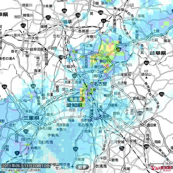 名古屋の天気(雨): やや強い雨 降水強度: 12.50(mm/h)  2019年06月11日 20時10分の雨雲 https://t.co/cYrRU9sV0H #雨雲bot #bot https://t.co/7G55GiTjfl