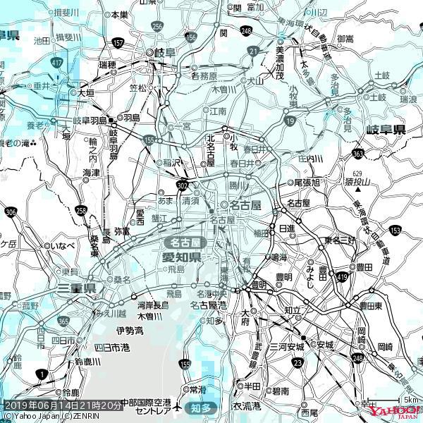 名古屋の天気(雨) 降水強度: 0.55(mm/h)  2019年06月14日 21時20分の雨雲 https://t.co/cYrRU9sV0H #雨雲bot #bot https://t.co/MES2Ksl4th