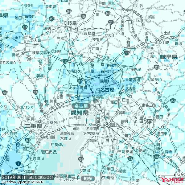 名古屋の天気(雨) 降水強度: 4.63(mm/h)  2019年06月15日 00時30分の雨雲 https://t.co/cYrRU9sV0H #雨雲bot #bot https://t.co/dNxNavyzSP