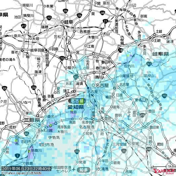名古屋の天気(雨) 降水強度: 4.38(mm/h)  2019年06月23日 22時40分の雨雲 https://t.co/cYrRU9sV0H #雨雲bot #bot https://t.co/QMonEdIJrO