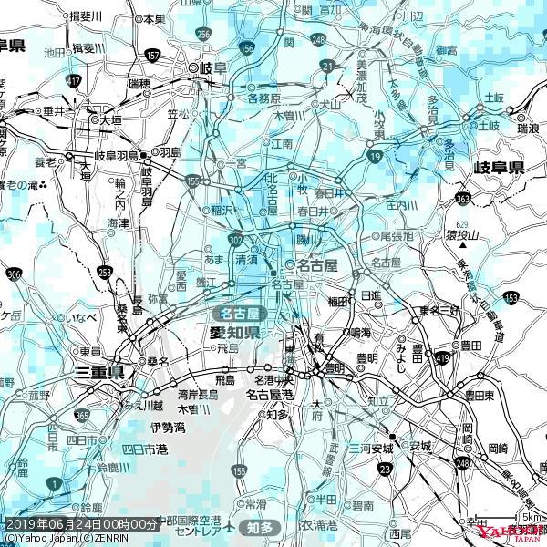 名古屋の天気(雨) 降水強度: 1.85(mm/h)  2019年06月24日 00時00分の雨雲 https://t.co/cYrRU9sV0H #雨雲bot #bot https://t.co/b8ZB07pshc