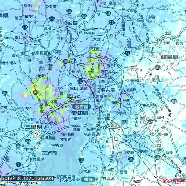 名古屋の天気(雨): やや強い雨 降水強度: 10.50(mm/h)  2019年06月27日 13時50分の雨雲 https://t.co/cYrRU9sV0H #雨雲bot #bot https://t.co/Of9Lk9dRxP
