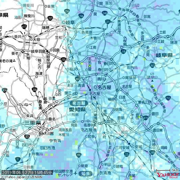 名古屋の天気(雨) 降水強度: 7.75(mm/h)  2019年06月27日 15時45分の雨雲 https://t.co/cYrRU9sV0H #雨雲bot #bot https://t.co/4sjEFIJyvr