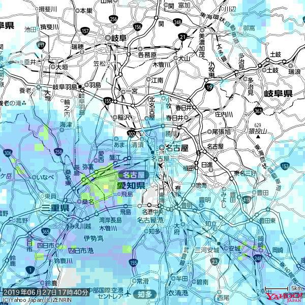 名古屋の天気(雨) 降水強度: 2.63(mm/h)  2019年06月27日 17時40分の雨雲 https://t.co/cYrRU9sV0H #雨雲bot #bot https://t.co/sISucyDaXe