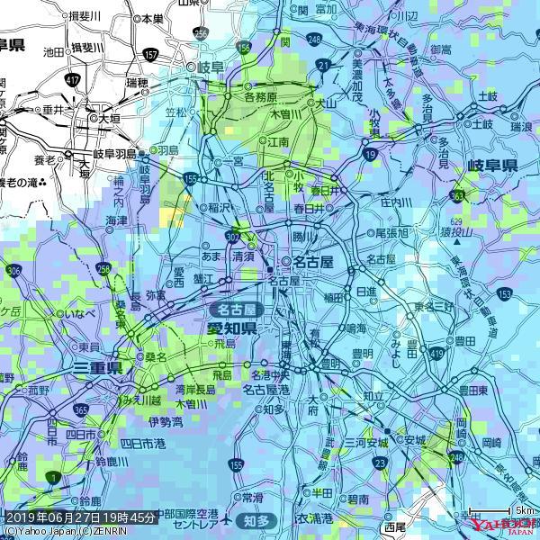 名古屋の天気(雨) 降水強度: 9.25(mm/h)  2019年06月27日 19時45分の雨雲 https://t.co/cYrRU9sV0H #雨雲bot #bot https://t.co/QQrb58DDr4