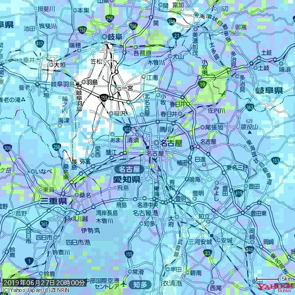 名古屋の天気(雨) 降水強度: 8.75(mm/h)  2019年06月27日 20時00分の雨雲 https://t.co/cYrRU9sV0H #雨雲bot #bot https://t.co/IuuN6xFhc3