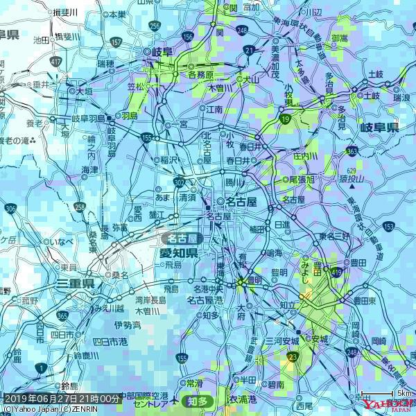 名古屋の天気(雨) 降水強度: 7.25(mm/h)  2019年06月27日 21時00分の雨雲 https://t.co/cYrRU9sV0H #雨雲bot #bot https://t.co/xCzYLXmK5L