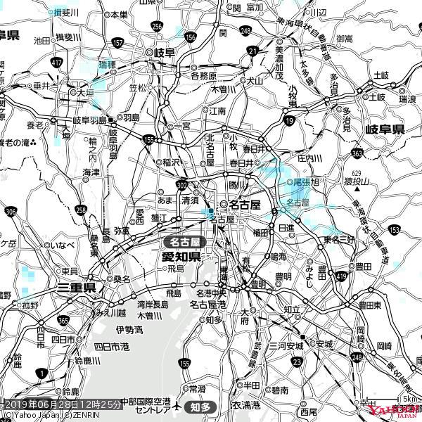 名古屋の天気(雨) 降水強度: 2.13(mm/h)  2019年06月28日 12時25分の雨雲 https://t.co/cYrRU9sV0H #雨雲bot #bot https://t.co/6NOcqdCNnH