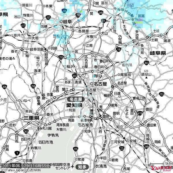 名古屋の天気(雨) 降水強度: 0.65(mm/h)  2019年06月29日 16時55分の雨雲 https://t.co/cYrRU9sV0H #雨雲bot #bot https://t.co/fFH8NdD71f