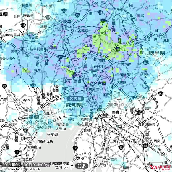 名古屋の天気(雨) 降水強度: 8.25(mm/h)  2019年06月30日 00時00分の雨雲 https://t.co/cYrRU9sV0H #雨雲bot #bot https://t.co/5WJXInpTHU