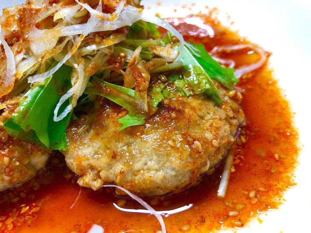 ピリ辛の豆腐ハンバーグ(゚д゚)ウマー https://t.co/lbZ0R80lnd