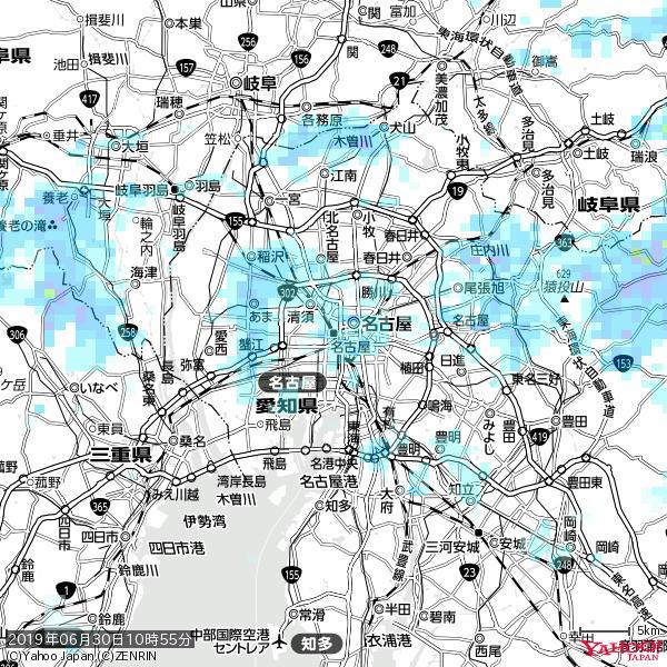 名古屋の天気(雨) 降水強度: 1.45(mm/h)  2019年06月30日 10時55分の雨雲 https://t.co/cYrRU9sV0H #雨雲bot #bot https://t.co/67eiqCDRL0