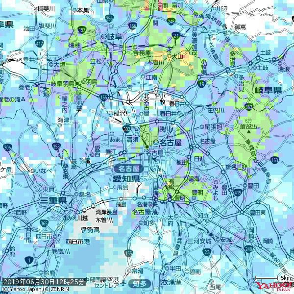 名古屋の天気(雨): やや強い雨 降水強度: 17.50(mm/h)  2019年06月30日 12時25分の雨雲 https://t.co/cYrRU9sV0H #雨雲bot #bot https://t.co/EiM5g9qgQp