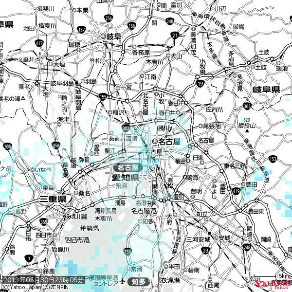 名古屋の天気(雨) 降水強度: 1.15(mm/h)  2019年06月30日 23時05分の雨雲 https://t.co/cYrRU9sV0H #雨雲bot #bot https://t.co/MaTJdpi0VY