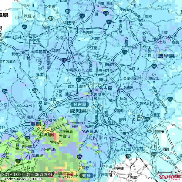 名古屋の天気(雨) 降水強度: 9.75(mm/h)  2019年07月01日 06時20分の雨雲 https://t.co/cYrRU9sV0H #雨雲bot #bot https://t.co/vWPNe36fHr