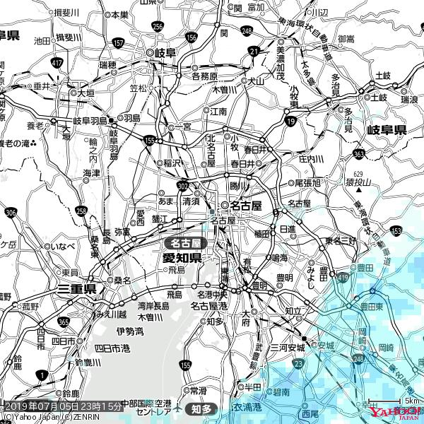 名古屋の天気(雨) 降水強度: 0.65(mm/h)  2019年07月05日 23時15分の雨雲 https://t.co/cYrRU9sV0H #雨雲bot #bot https://t.co/zetSOhJINF