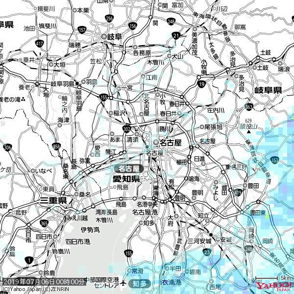 名古屋の天気(雨) 降水強度: 0.85(mm/h)  2019年07月06日 00時00分の雨雲 https://t.co/cYrRU9sV0H #雨雲bot #bot https://t.co/uup8yfF4wO