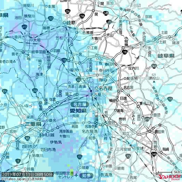 名古屋の天気(雨) 降水強度: 8.25(mm/h)  2019年07月11日 08時50分の雨雲 https://t.co/cYrRU9sV0H #雨雲bot #bot https://t.co/i4CYpAWx0w