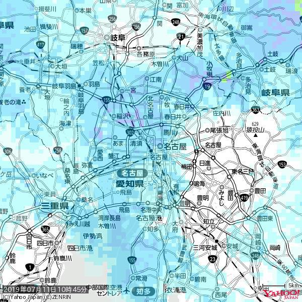 名古屋の天気(雨) 降水強度: 2.38(mm/h)  2019年07月11日 10時45分の雨雲 https://t.co/cYrRU9sV0H #雨雲bot #bot https://t.co/bdTCzrFStP