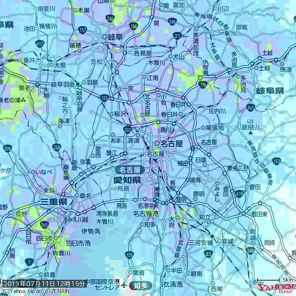 名古屋の天気(雨) 降水強度: 8.75(mm/h)  2019年07月11日 12時15分の雨雲 https://t.co/cYrRU9sV0H #雨雲bot #bot https://t.co/cuO4BBWTbq