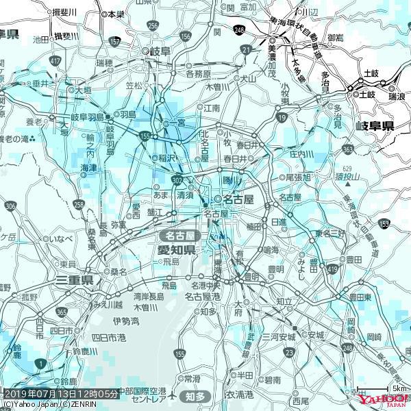 名古屋の天気(雨) 降水強度: 1.15(mm/h)  2019年07月13日 12時05分の雨雲 https://t.co/cYrRU9sV0H #雨雲bot #bot https://t.co/6sJEeIDL6B