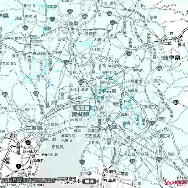 名古屋の天気(雨) 降水強度: 0.85(mm/h)  2019年07月13日 14時00分の雨雲 https://t.co/cYrRU9sV0H #雨雲bot #bot https://t.co/dYZlZDVXky