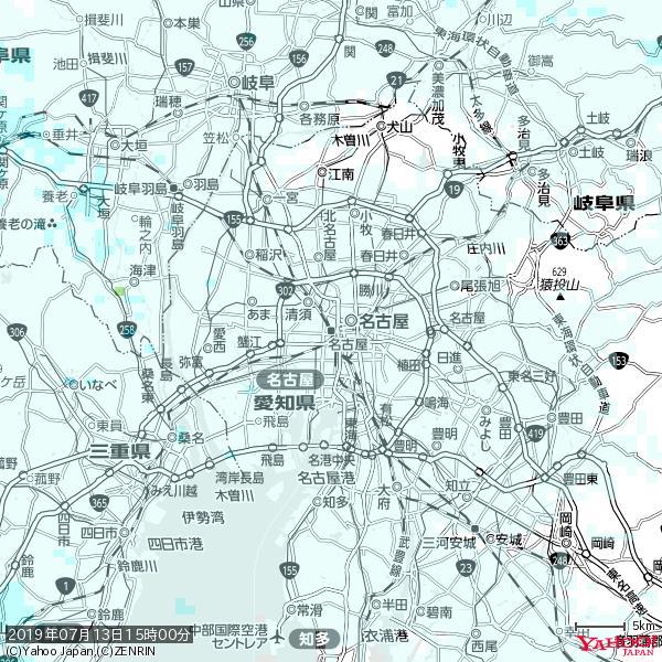 名古屋の天気(雨) 降水強度: 0.75(mm/h)  2019年07月13日 15時00分の雨雲 https://t.co/cYrRU9sV0H #雨雲bot #bot https://t.co/OHkB2rTgzd