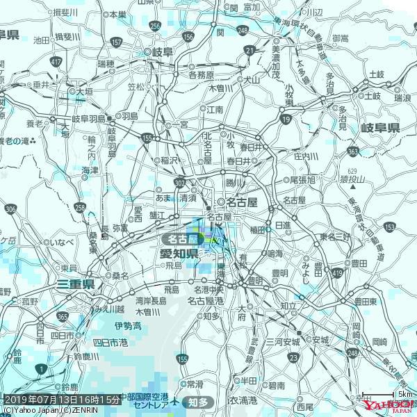 名古屋の天気(雨) 降水強度: 0.85(mm/h)  2019年07月13日 16時15分の雨雲 https://t.co/cYrRU9sV0H #雨雲bot #bot https://t.co/RXFvQj5T6M