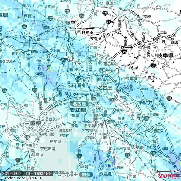 名古屋の天気(雨) 降水強度: 2.88(mm/h)  2019年07月13日 19時45分の雨雲 https://t.co/cYrRU9sV0H #雨雲bot #bot https://t.co/EUatr4vOHV