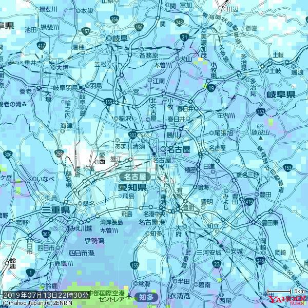 名古屋の天気(雨) 降水強度: 4.88(mm/h)  2019年07月13日 22時30分の雨雲 https://t.co/cYrRU9sV0H #雨雲bot #bot https://t.co/3Ap1qfXslF