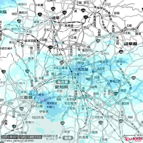 名古屋の天気(雨) 降水強度: 4.88(mm/h)  2019年07月14日 14時25分の雨雲 https://t.co/cYrRU9sV0H #雨雲bot #bot https://t.co/azwaoJLYuU