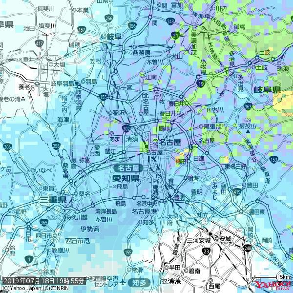 名古屋の天気(雨): やや強い雨 降水強度: 13.50(mm/h)  2019年07月18日 19時55分の雨雲 https://t.co/cYrRU9sV0H #雨雲bot #bot https://t.co/8oRaXkRsbq