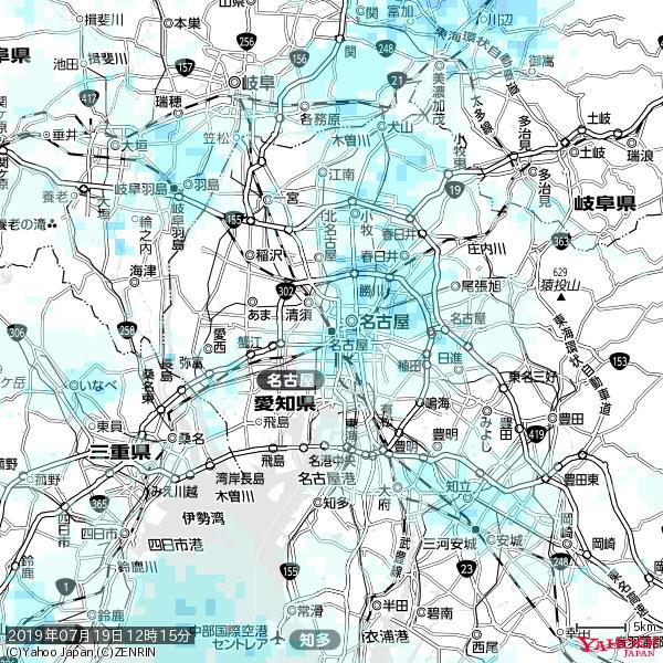 名古屋の天気(雨) 降水強度: 1.75(mm/h)  2019年07月19日 12時15分の雨雲 https://t.co/cYrRU9sV0H #雨雲bot #bot https://t.co/jhHiqTwAR7