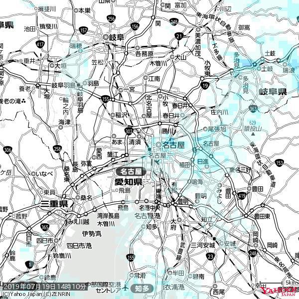 名古屋の天気(雨) 降水強度: 1.75(mm/h)  2019年07月19日 14時10分の雨雲 https://t.co/cYrRU9sV0H #雨雲bot #bot https://t.co/JozqJEstU7
