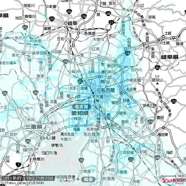 名古屋の天気(雨) 降水強度: 2.88(mm/h)  2019年07月19日 21時25分の雨雲 https://t.co/cYrRU9sV0H #雨雲bot #bot https://t.co/IbgvDQpWOu