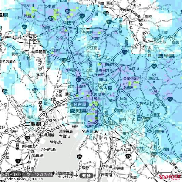 名古屋の天気(雨): やや強い雨 降水強度: 10.50(mm/h)  2019年07月22日 12時25分の雨雲 https://t.co/cYrRU9sV0H #雨雲bot #bot https://t.co/ZhKtcRNrJ8