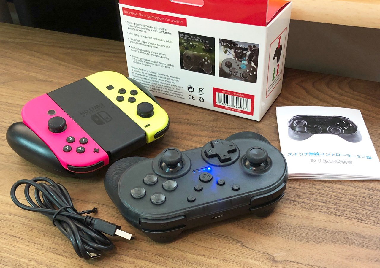 JYS Wireless Mini Gamepad for Switch JYS-NS165 BL. Nintendo Switch のLスティックボタンが壊れてしまったので、純正じゃないコントローラーをAmazonマケプレにて3380円で購入。  【最新ミニ版 NFC機能】Nintendo switch コントローラー 小型 無線 ワイヤレス HD振動 https://t.co/uS5epOotwQ https://t.co/2pW7SCpNhQ