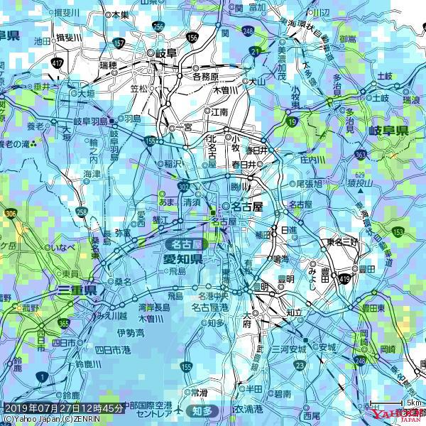 名古屋の天気(雨): やや強い雨 降水強度: 16.50(mm/h)  2019年07月27日 12時45分の雨雲 https://t.co/cYrRU9sV0H #雨雲bot #bot https://t.co/c57KnQ3Dsn