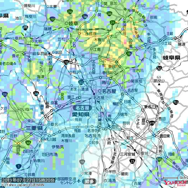 名古屋の天気(雨) 降水強度: 9.25(mm/h)  2019年07月27日 15時20分の雨雲 https://t.co/cYrRU9sV0H #雨雲bot #bot https://t.co/hHl4dbwzdP