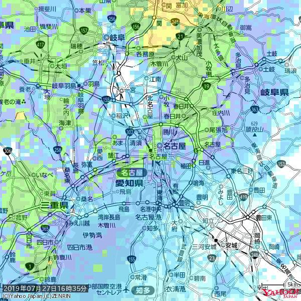 名古屋の天気(雨): 強い雨 降水強度: 23.50(mm/h)  2019年07月27日 16時35分の雨雲 https://t.co/cYrRU9sV0H #豪雨bot #雨雲bot #bot https://t.co/Vj7ya9JLPQ