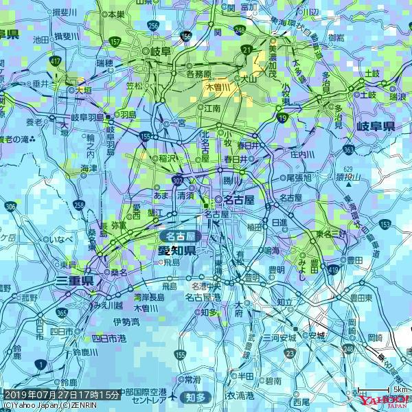 名古屋の天気(雨): やや強い雨 降水強度: 14.50(mm/h)  2019年07月27日 17時15分の雨雲 https://t.co/cYrRU9sV0H #雨雲bot #bot https://t.co/v8nJHiUD0E