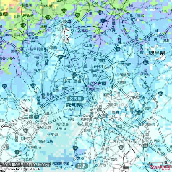 名古屋の天気(雨) 降水強度: 3.63(mm/h)  2019年08月16日 07時00分の雨雲 https://t.co/cYrRU9sV0H #雨雲bot #bot https://t.co/yJLZOopOrz