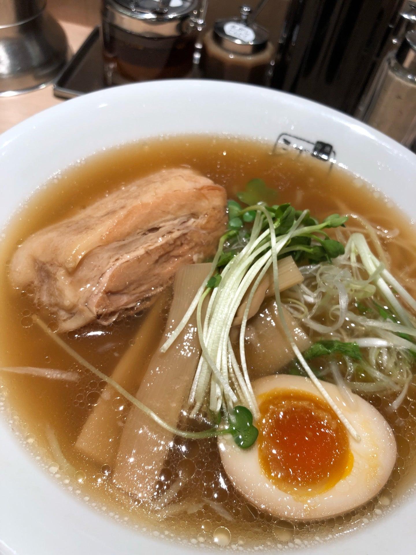 特製らーめん。醤油スープ、柳麺、分厚い豚バラ肉の角煮。 (@ 江南 JRタワーズ店 in 名古屋市, 愛知県) https://t.co/t5lbH28rqr https://t.co/OpwepRTj5t