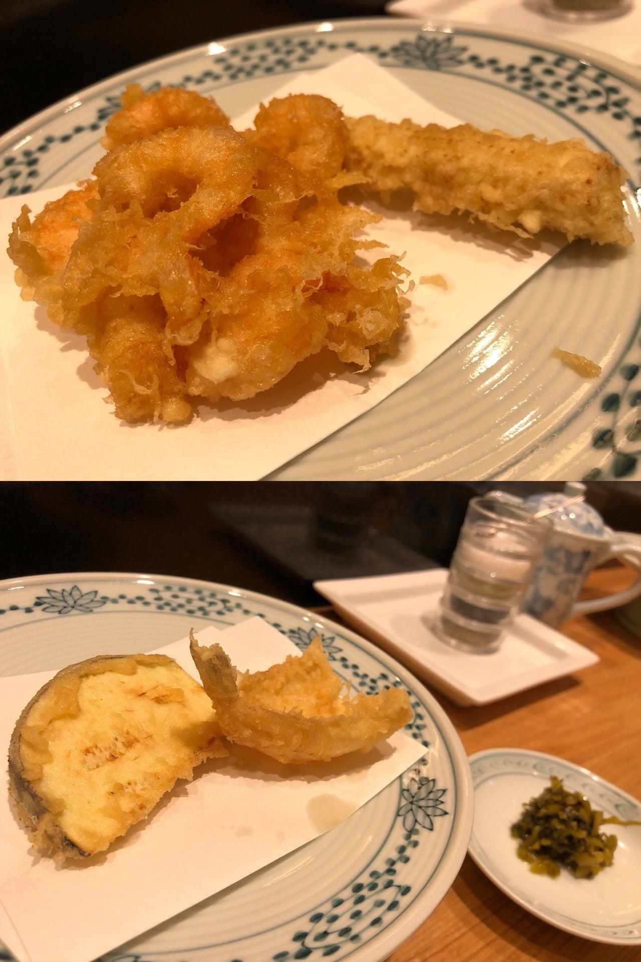 塩が4種類。天つゆと大根おろし。いろんな味で食べられる。海老がぷりぷりしてる。 (@ 天ぷら つな八 名古屋ゲートタワー店 in Nagoya-shi, 愛知県) https://t.co/E38ftziyKC https://t.co/kkGOruu5RL